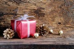 圣诞节假日和新年快乐背景 礼物盒机智 库存照片