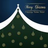 圣诞节假日在豪美的样式-汇集的贺卡设计 库存例证