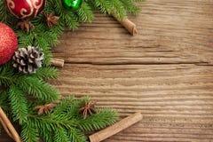 圣诞节假日框架装饰 图库摄影