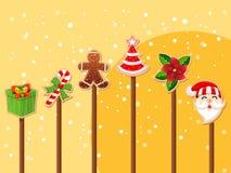 圣诞节假日穿戴象的汇集 免版税库存照片