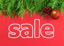 圣诞节假日销售 免版税库存图片