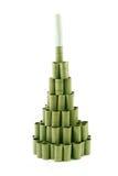 圣诞节做的纸张滚结构树 免版税库存照片