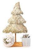 圣诞节做秸杆结构树 库存图片