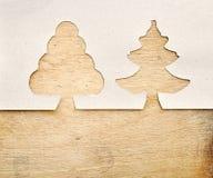 圣诞节做纸张被撕毁的结构树 库存照片