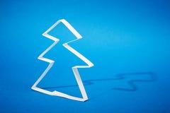 圣诞节做纸结构树 免版税库存图片
