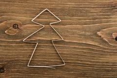 圣诞节做纸结构树 图库摄影