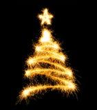 圣诞节做闪烁发光物结构树 免版税库存照片