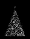 圣诞节做雪花结构树 向量例证
