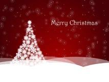 圣诞节做雪花结构树 图库摄影