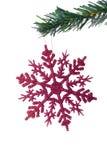 圣诞节停止的雪花 免版税库存图片