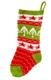 圣诞节储存 圣诞老人的礼物的被编织的袜子 冬天holid 免版税图库摄影