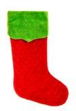 圣诞节储存 红色绿色袜子 寒假标志 免版税库存照片