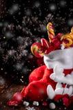 圣诞节充分殴打糖果和甜点在木背景 库存图片