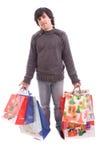 圣诞节充分的礼品供以人员年轻人 图库摄影