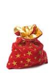 圣诞节充分的礼品查出红色大袋 库存照片