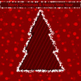 圣诞节光亮的结构树 也corel凹道例证向量 库存图片