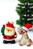 圣诞节克劳斯・圣诞老人老虎结构树 库存图片