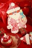 圣诞节克劳斯姜饼圣诞老人 免版税库存图片