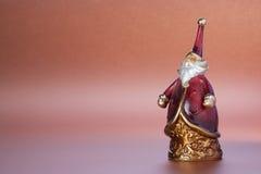 圣诞节克劳斯小雕象圣诞老人 图库摄影