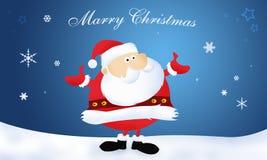 圣诞节克劳斯快活的圣诞老人 库存图片