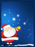 圣诞节克劳斯快活的圣诞老人 图库摄影