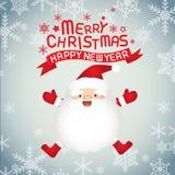圣诞节克劳斯快活的圣诞老人 免版税图库摄影