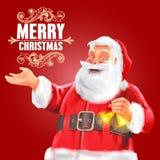 圣诞节克劳斯快活的圣诞老人 库存照片