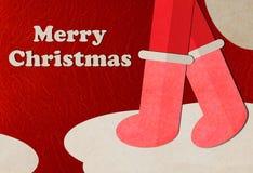 圣诞节克劳斯快活的圣诞老人 免版税库存图片