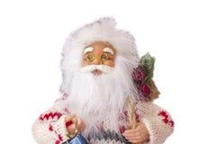 圣诞节克劳斯礼品圣诞老人 背景查出的白色 免版税库存图片
