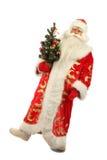 圣诞节克劳斯藏品圣诞老人结构树 免版税库存图片