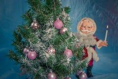 圣诞节克劳斯・圣诞老人结构树 库存照片