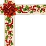 圣诞节克服的丝带 免版税库存图片