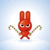 圣诞节兔子 免版税库存照片
