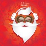 圣诞节党或卡片的行家海报。 库存图片