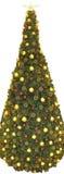 圣诞节全景结构树 免版税图库摄影