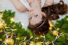 圣诞节公主 库存图片