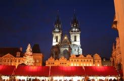 圣诞节公平在圣母玛丽亚的寺庙 免版税库存照片
