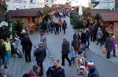 圣诞节公平在圣沃尔夫冈在奥地利 库存照片