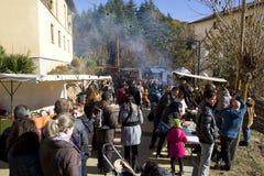 圣诞节公平在埃斯皮内尔韦斯,西班牙 库存图片