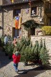 圣诞节公平在埃斯皮内尔韦斯,西班牙 免版税库存图片