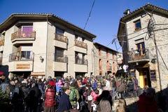 圣诞节公平在埃斯皮内尔韦斯,西班牙 图库摄影