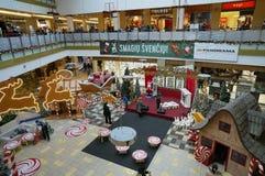 圣诞节公平在大型超级市场 图库摄影