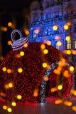 圣诞节公平在奥拉迪亚,罗马尼亚 免版税库存照片