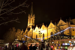圣诞节公平在布达佩斯 免版税图库摄影