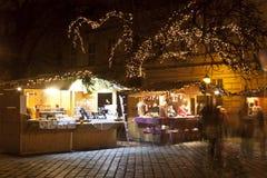 圣诞节公平在布达佩斯 免版税库存照片