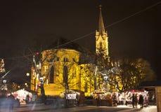 圣诞节公平在布达佩斯 库存照片