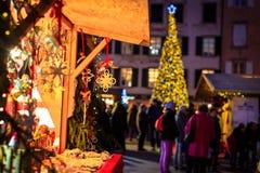 圣诞节公平在意大利 免版税库存图片
