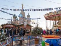 圣诞节公平在红场,莫斯科 免版税图库摄影