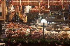 圣诞节公平在Szent István广场在布达佩斯 免版税库存图片