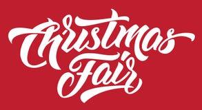 圣诞节公平的现代手字法 向量例证